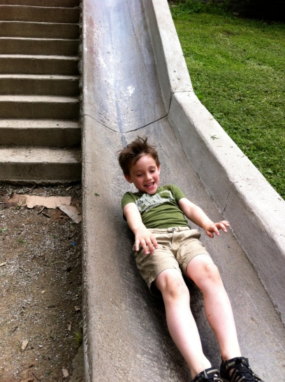 the concrete slide