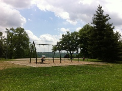 Southternmost playground. Swings and a view of the river!!