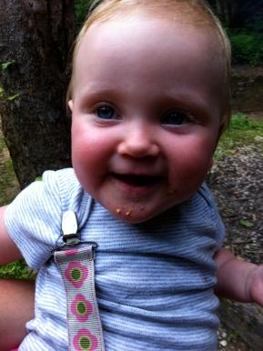 Baby's first graham cracker.